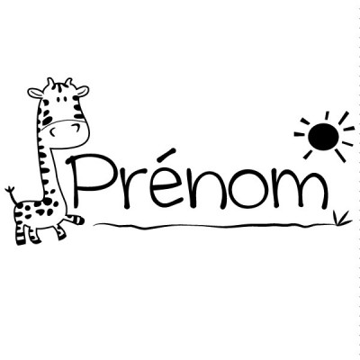 Tampon girafe prénom à personnaliser Tamporelle