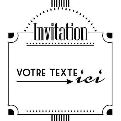 Tampon invitation classique à personnaliser 5 cm Tamporelle