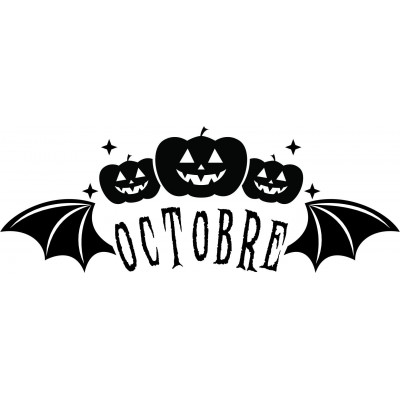 Tampon octobre à personnaliser 5 cm
