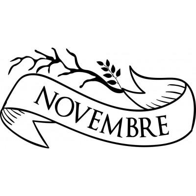 Tampon novembre à personnaliser 5 cm