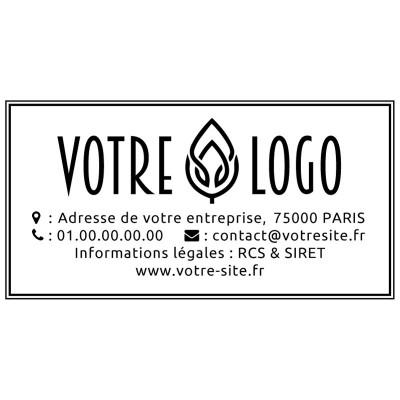 Tampon logo rectangulaire à personnaliser 5 cm Tamporelle