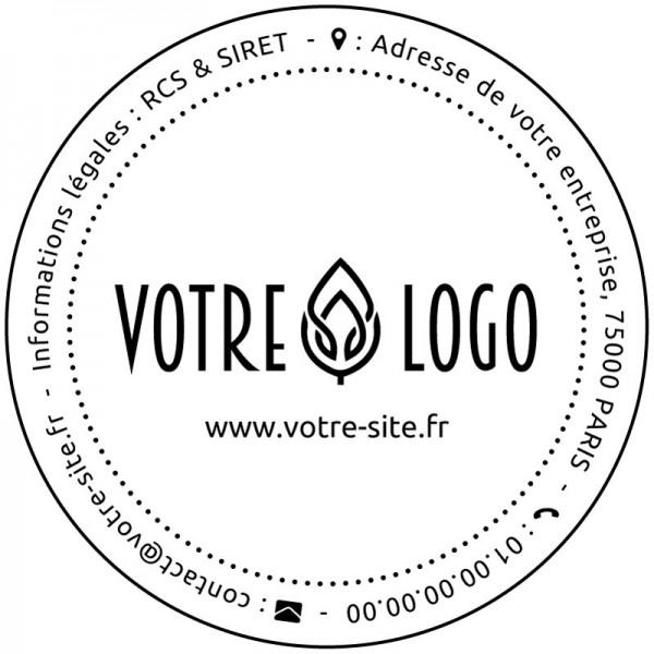 tampon rond logo personnaliser caoutchouc tamporelle. Black Bedroom Furniture Sets. Home Design Ideas