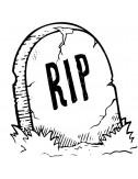 Tampon encreur halloween RIP