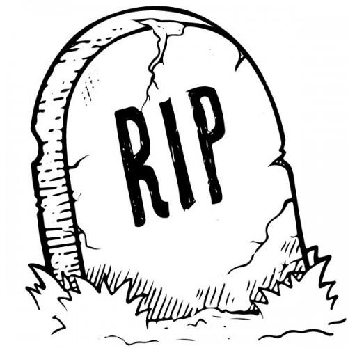 Tampon halloween RIP Tamporelle