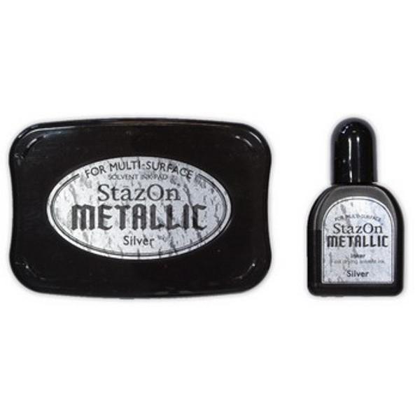 Stazon metallic silver