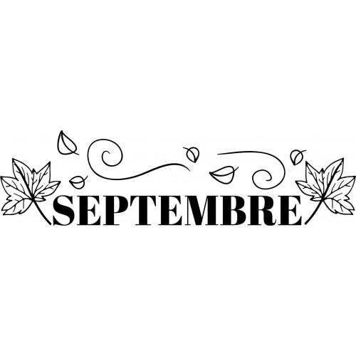 Tampon septembre à personnaliser 5 cm