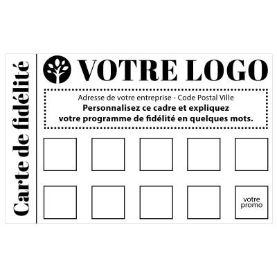 Tampon personnalisé logo carte de fidélité