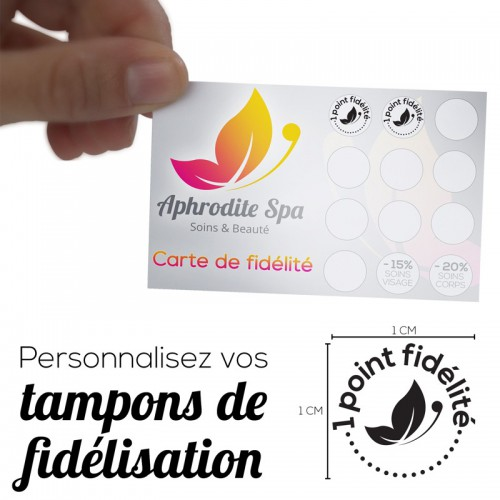 Tampon personnalisable 1 cm maximum Tamporelle