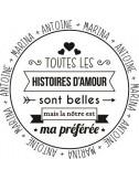Tampon citation Saint Valentin personnalisé
