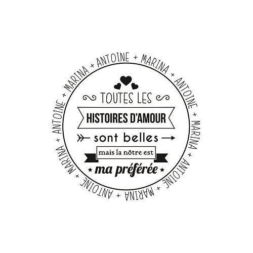 Tampon citation Saint Valentin 5 cm à personnaliser Tamporelle