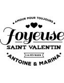 Tampon joyeuse Saint Valentin tampon personnalisé
