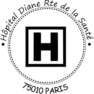 Tampon logo personnalisé entreprise hospitalier