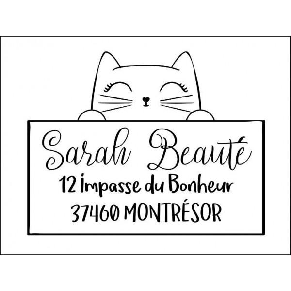 Tampon adresse personnalisé chat