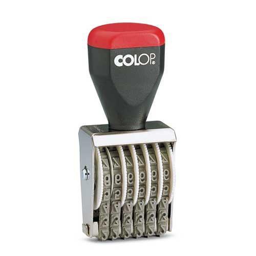 Numéroteur 6 bandes 3 mm Colop