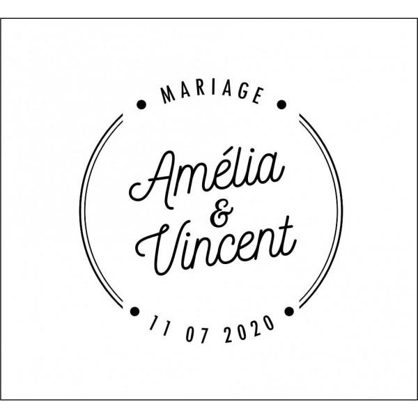 Tampon mariage cercle personnalisé pas cher
