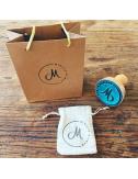 Tampon textile personnalisé avec bois