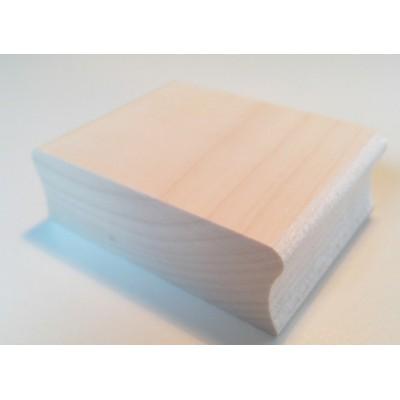 Tampon textile grande taille personnalisé bois