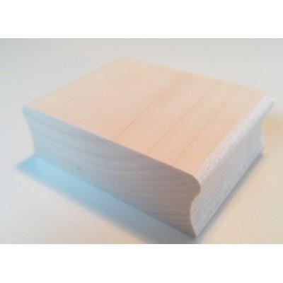 Tampon adresse carré personnalisé bois