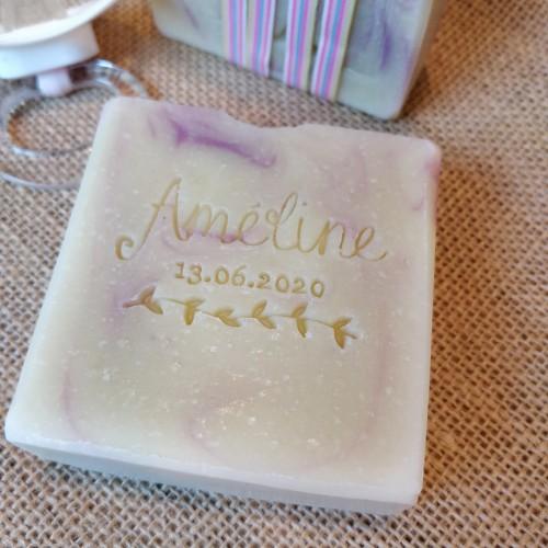Tampon savon naissance acrylique bois