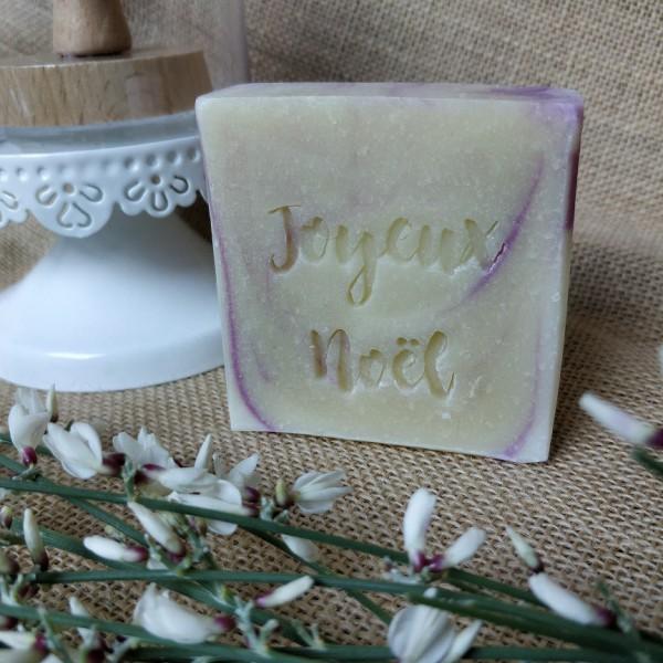 Tampon savon joyeux noël acrylique bois