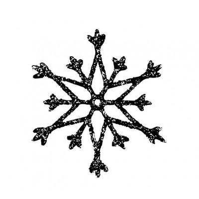 Tampon savon flocon de neige acrylique bois