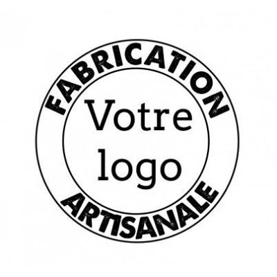 Tampon personnalisé logo fabrication artisanale bois
