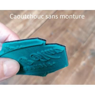 Tampon pour textile grand format personnalisé bois