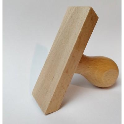 Tampon adresse double arabesque à personnaliser 5 cm  Tamporelle