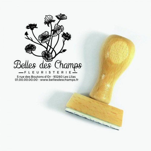 Tampon logo personnalisé fleuriste